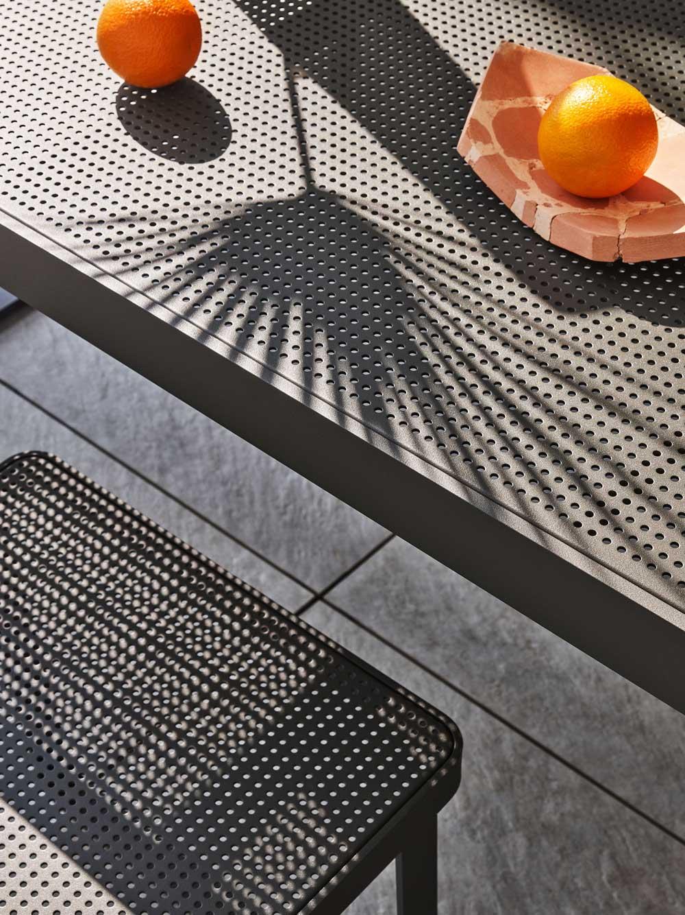 Sedia Makemake - Sedia per esterno in alluminio e acciaio
