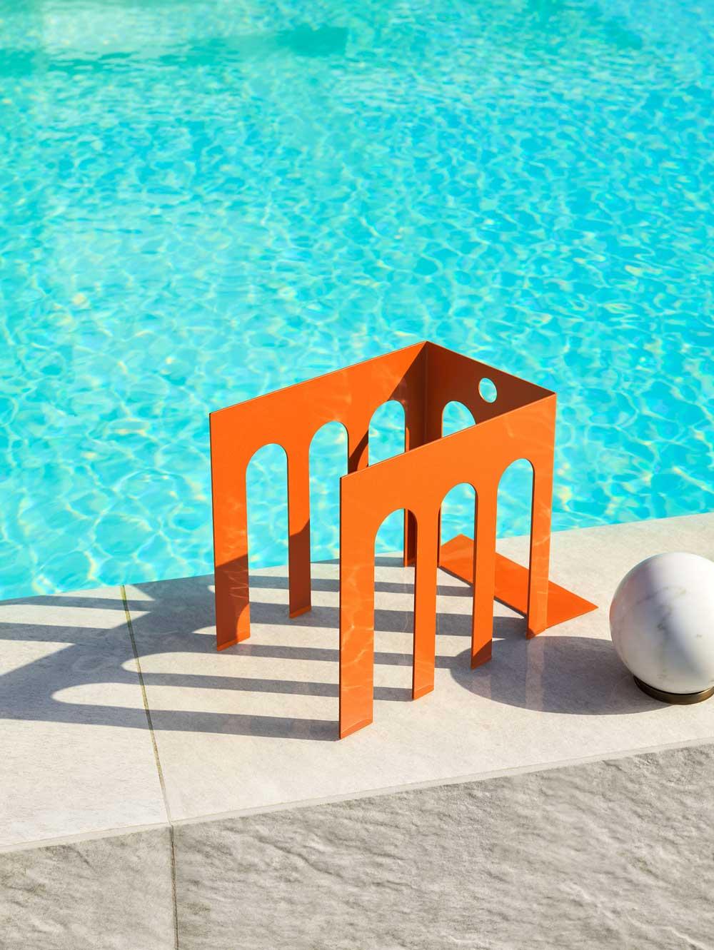 Sedia Lounge Eleven/ Eleven Lounge Chair - Sedia Lounge per esterni in tubolare di acciaio
